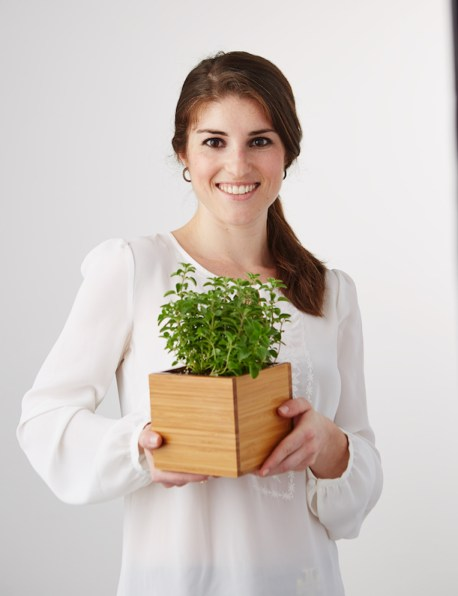 Woman Holding Herb