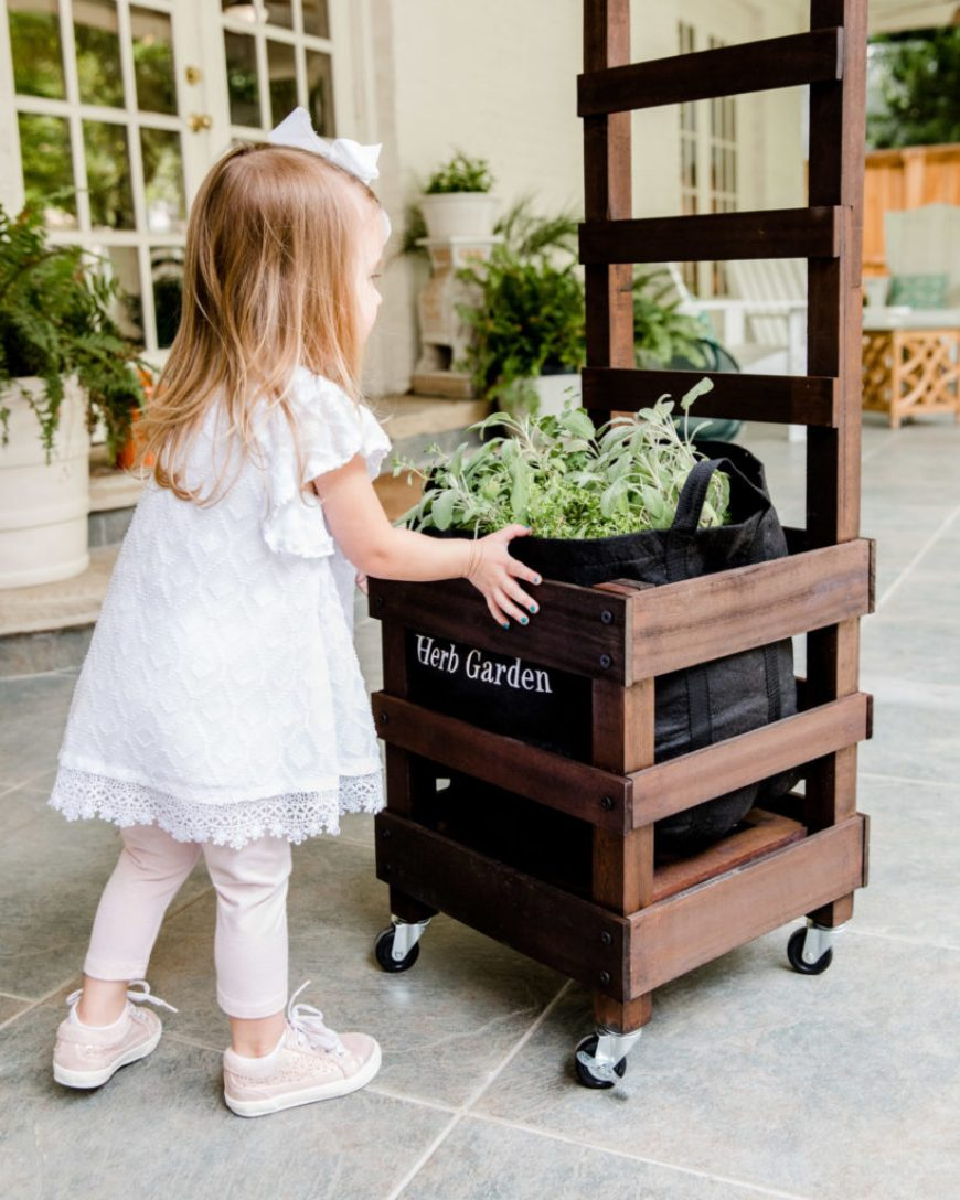 Child and Gardenuity Container Garden