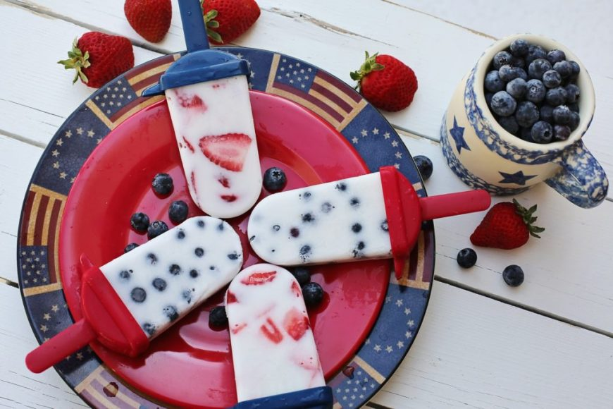 Berries & Cream Popsicles