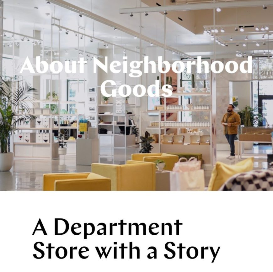 Neighborhood Goods - A Department Store With A Story