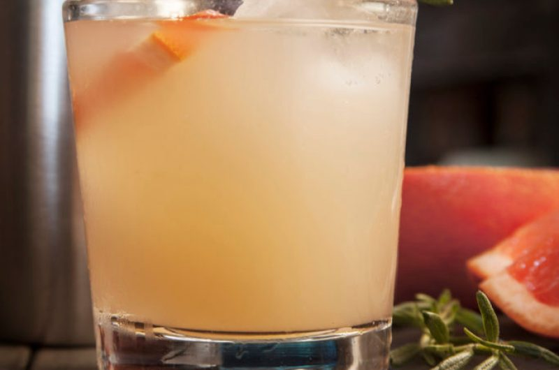 Grapefruit Margarita with Jalapeño Simple Syrup