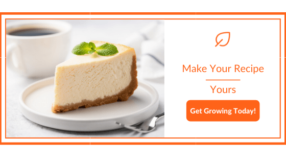 Cheesecake with Fresh Mint