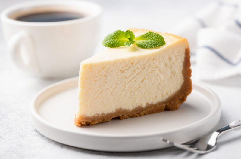 Fresh Mint Eggnog Cheesecake