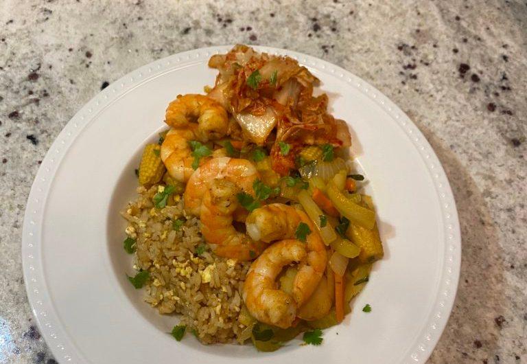 Asian Greens & Shrimp Stir Fry