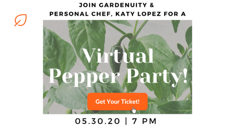 Gardenuity Virtual Pepper Party Banner