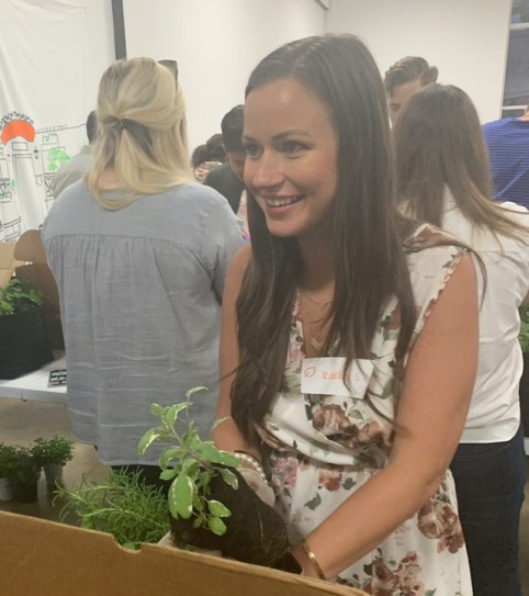 Rachel Sipperly at a Gardenuity Event