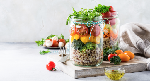 Vegan Meal Prep Mason Jars
