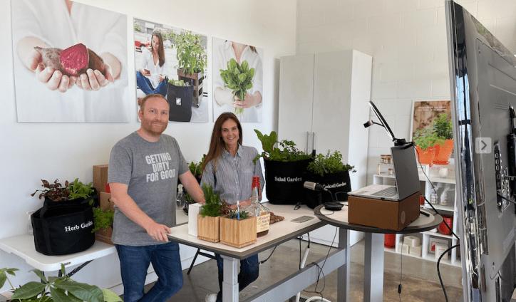 Doug & Donna Conducting a Virtual Gardening Workshop