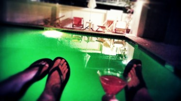 náš bazén a welcome drink nealko