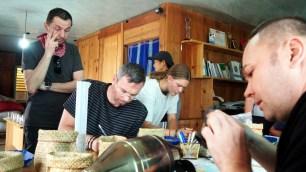 K'HO coffee farm: proces praženia
