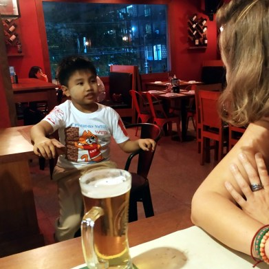 rozprava so 7 ročným, v angličtine plynulým