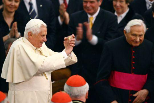 pope Benedict XVI, in 2007