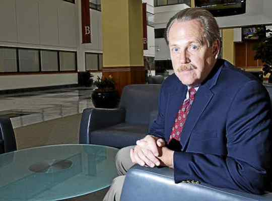 Victim advocate and clerical sex abuse survivor John Salveson inside his office complex in Radnor.