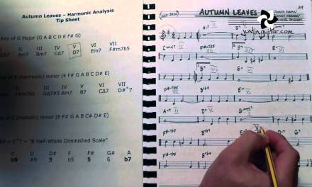 Jazz Standard: Autumn Leaves – Harmonic Analysis (Guitar Lesson JA-522)
