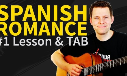 How To Play Spanish Romance Guitar Lesson & TAB #1 Minor Section