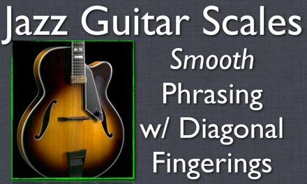 Jazz Guitar Scales: Diagonal Fingerings Lesson – how Jazz scales really fit the guitar