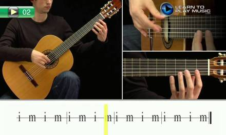 Ex002 How to Play Classical Guitar for Kids – Classical Guitar Lessons for Kids Book 1