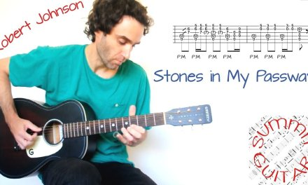 Robert Johnson – Stones in My Passway / Terraplane Blues – Guitar lesson / tutorial / cover with tab
