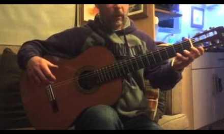 Classical guitar lesson Lagrima part 1
