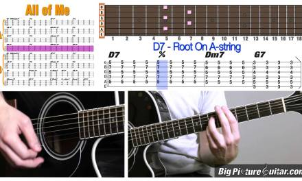 Guitar Lesson: All Of Me – Jazz Standard w/ Animation & TAB