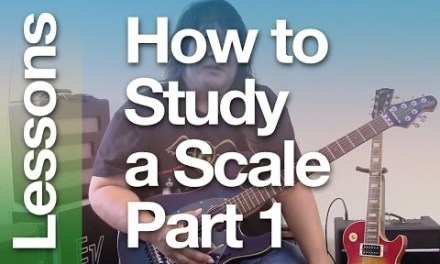 How to Study a Scale – Part 1 ( A easy and fun guitar lesson for Improvisation )