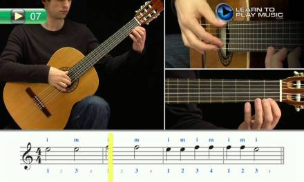 Ex007 How to Play Classical Guitar for Kids – Classical Guitar Lessons for Kids Book 1