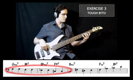 "Walking Jazz Standards #6: ""Giant Steps"" – Bass Guitar Lesson"