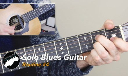 Solo Blues Guitar Lesson – Common Chords, Licks and Turnarounds – Routine #4