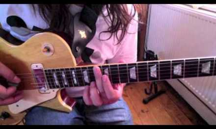 All 5 Dominant 7th Pentatonic scales with improvised solo for Guitar lesson