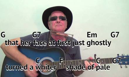 A Whiter Shade Of Pale – easy chords guitar lesson – on-screen chords  lyrics (guitar/mouth organ)