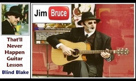 Acoustic Blues Guitar Lessons – Jim Bruce Blues Guitar – Blind Blake – That'll Never Happen