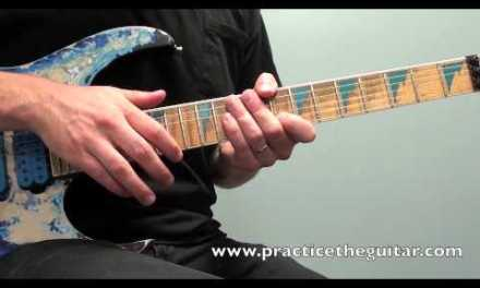 Electric Guitar Lesson-How To Play-Finger Tapping Arpeggios In G- Backing Tracks-Practice