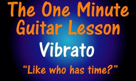 Lead Guitar Vibrato Technique Blues and Rock Guitar 1 Minute Lesson