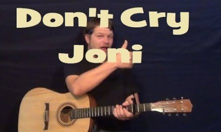 Don't Cry Joni (Conway Twitty) Guitar Lesson Easy Chords How to Play Tutorial Fingerstyle
