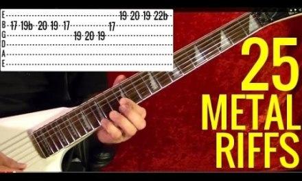 25 BEST HEAVY METAL RIFFS EVER! Sabbath – Ozzy – Judas Prist – Metallica – Iron Maiden – Scorpions