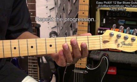 Easy Picking 12 Bar Blues Guitar Lesson EricBlackmonMusic  FunkGuitarGuru Funk