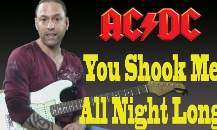 "Learn to Play ""You Shook Me All Night Long"" by AC DC (Guitar Lesson)"