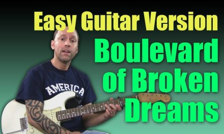 """Learn to Play """"Boulevard of Broken Dreams"""" by Green Day (Easy Guitar Lesson)"""