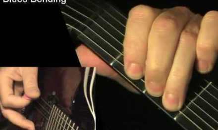 Blues bending for beginners – electric guitar lesson, learn how to play