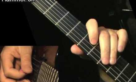 Hammer-On for beginners – electric guitar lesson, learn how to play
