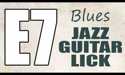 Jazz blues guitar lick lesson – Major blues scale & mixolydian mode