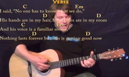 Wildest Dreams (Taylor Swift) Strum Guitar Lesson with Chords/Lyrics