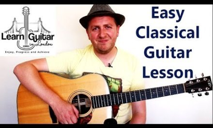 Easy Classical Guitar Song Lesson – A Soalin' – Free TAB – 3 Stage Difficulty