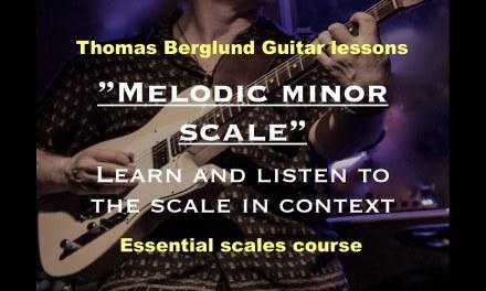 Melodic minor scale / Guitar lesson