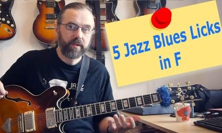 5 Jazz Blues licks in F