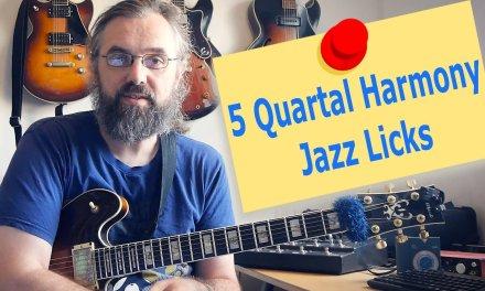 5 Quartal Harmony licks – Guitar lesson – Modern Jazz Sounds