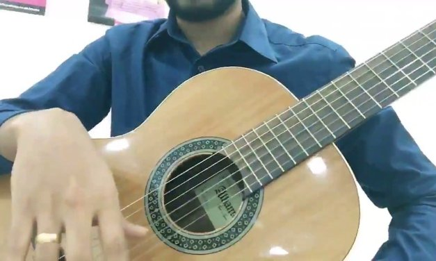 Basic right hand exercises for classical guitar in Sinhala by Sangeeth Rangana