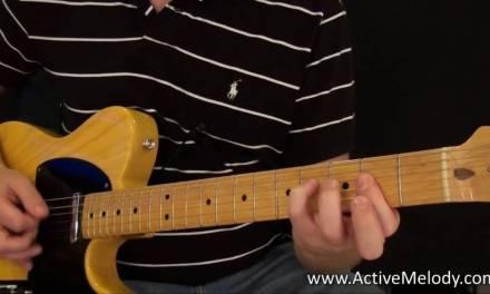 Rock / Blues Rhythm Guitar Lesson (Key of A)