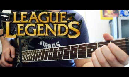 [Tutorial] How to play Warriors by Imagine Dragons  [Guitar Solo] League of Legends