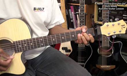 NEVER GONNA GIVE YOU UP Rick Astley 3 Chords Guitar Lesson EricBlackmonMusicHD